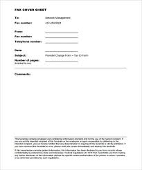 10+ Generic Fax Cover Sheet Templates – Free Sample, Example Format ...