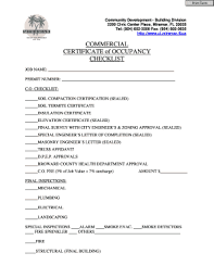 Fillable Online Ci Miramar Fl Commercial Certificate Of Occupancy