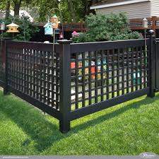 vinyl fence ideas. Unique Fence Black PVC Vinyl Old English Lattice Fence With New England Caps From  Illusions Is On Ideas