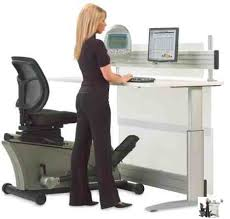 standing office table. Full Size Of Interior: Spend Even More Time At Work With The Elliptical Machine Office Standing Table L