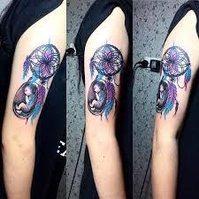 Purple Dream Catcher Tattoo 100 Dreamcatcher Tattoo Best Designs with Meaning 68