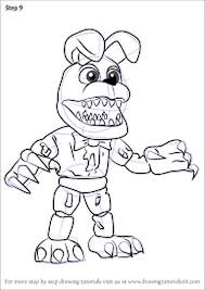 Fnaf Coloring Pages Withered Bonnie Part 6 Fnaf Coloring Pages