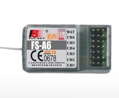 <b>6</b>-ти <b>канальный приемник FlySky</b> А6 2.4гГц (для i4, <b>i6</b>, i10 ...