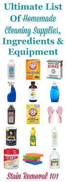 cleaning supplies list ultimate list of homemade cleaning supplies ingredients and equipment