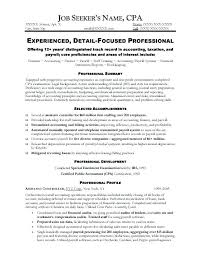 Sample Resume Of Accountant Sample Resume For Accounting Sample
