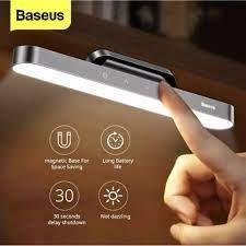 Đèn LED Đọc sách Baseus sạc USB gắn tường Từ Tính không dây, cảm ứng chạm  điều chỉnh độ sáng + chế độ trễ tắt 30 giây giá cạnh tranh