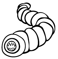 Small Picture Earthworm coloring page Animals Town Free Earthworm color sheet