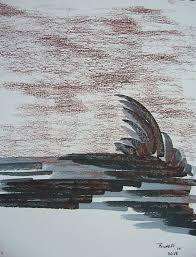 Press space to see original. Tsunami Drawing By Dave Trinel Artmajeur