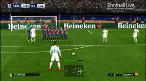 pes 2017 real madrid vs barcelona c ronaldo free kick goal full match uefa chions league football live
