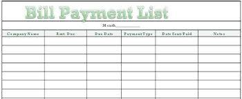 Bill Payment Organizer Template Spreadsheet For Paying Off Debt New Bills Calendar Template