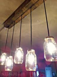 mason jar rustic pallet light fixture diy on binkysnest com