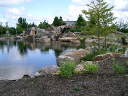 """Doug and Dustin Harvey participate in building """"The Worlds most Extreme  pond Build"""" Chicago Illinois 