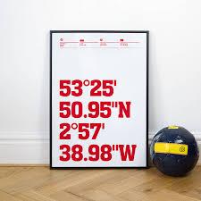 liverpool football stadium coordinates posters