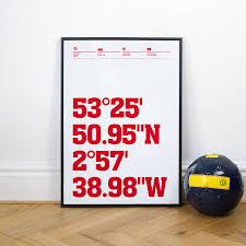 liverpool football stadium coordinates posters