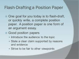 th grade informative writing ppt  flash drafting a position paper