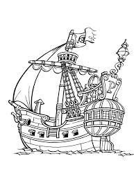 Kleurplaat Het Schip Van Piet Piraat Kleurplaatjecom