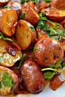 bacon and sweet potato salad with warm honey mustard dressing
