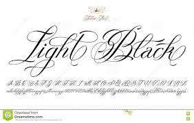 светлый черный шрифт татуировки иллюстрация вектора иллюстрации