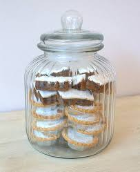Large Decorative Jars large ridged glass biscuit jar by ella james notonthehighstreet 1