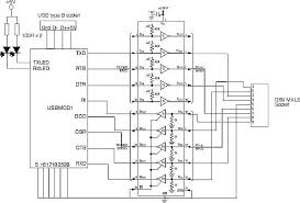 usb to rs232 converter circuit diagram