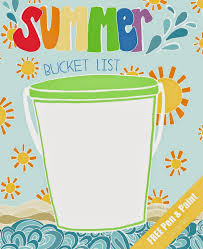 Pen Paint Free Printable Coloring Page Summer Bucket List
