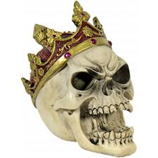 Lebka S Královskou Korunou Dekorace Mysticum