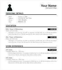 Resume Templates Fill In The Blanks Blank Resume Download Putasgae Info
