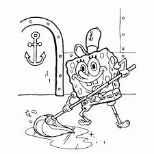 Spongebob Squarepants Kleurplaten Kleurplatenpaginanl Throughout