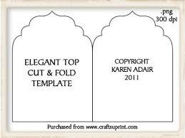folding card template elegant top cut and fold card template cup189236_168 craftsuprint