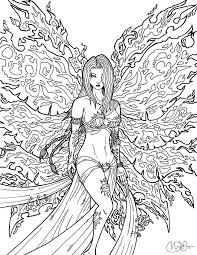 Goddess Coloring Pages Adults Art Nouveau Adult Coloring Pages