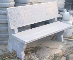 natural granite outdoor bench garden