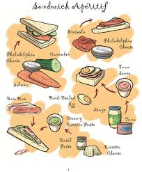 each recipe entails drawings of food ings painted in vibrant colors