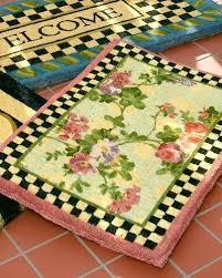 mackenzie childs rugs morning glory entrance doormat quick look mackenzie childs kitchen rugs