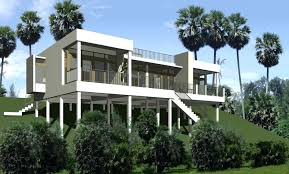 modern coastal house plans elevated piling home stilt ocean view beach for narrow lots building on