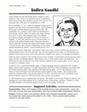 two female leaders golda meir and indira gandhi teachervision related resources worksheets indira gandhi