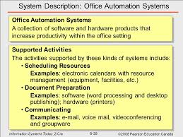 office automated system. 39 System Description: Office Automation Systems Automated