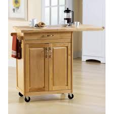 Superior Small Kitchen Cart With Larger Wood Top And Wheels
