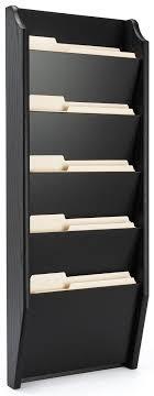 wood wall folder rack black finish