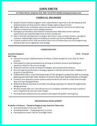 Chemical Engineering Resume Examples Examples Of Resumes