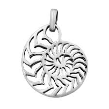 genuine sterling silver depicts a nautilus shell in this unique design this pendant is the perfect accompaniment to your summer outfits