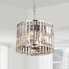 justina crystal glass prism chrome pendant chandelier