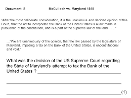 dbq essay scaffolding us constitution sectionalism ppt  what was the decision of the us supreme court regarding