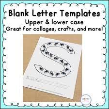 Templates Alphabet Letters Blank Alphabet Letter Templates