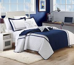 navy blue and white bedding 5 pc embroidered navy and white quilt set