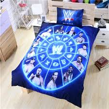 wwe bed sheets bedding duvet cover wrestling bedding unique gift high quality zipper soft bed wwe bed sheets twin