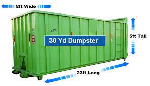Dumpster Sizes Chart Dumpsters