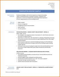 Firefighter Resume Template Free Templates Sample No Experience