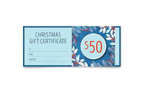 Gift Certificate Templates - Indesign, Illustrator, Publisher, Word ...