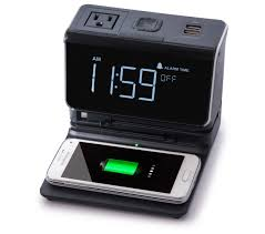 the new kube essentials is a sleek elegant alarm clock featuring high sd charging for up to 6 devices at once including your laptop