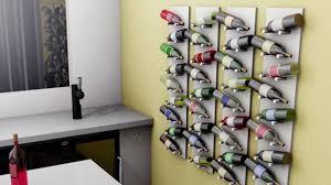 furniture wall mounted wine rack elegant diy wall mounted wine rack diy wall